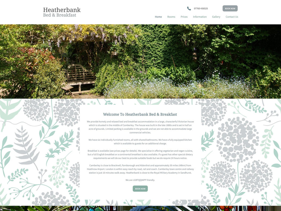 The Heatherbank website created by it'seeze Camberley